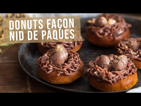 recette-|-donuts-citron-et-praliné-façon-nid-de-pâques