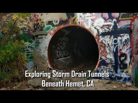 Exploring Storm Drain Tunnels Beneath Hemet, CA