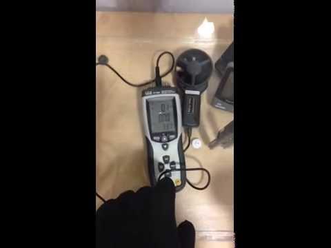 Uso del Termoanemometro CM-DT8897