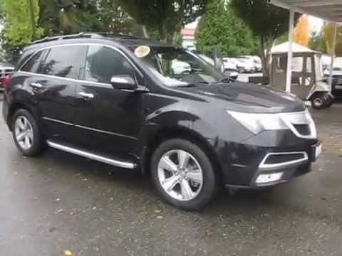 2012 Acura Mdx Crystal Black Pearl Stock 141033a