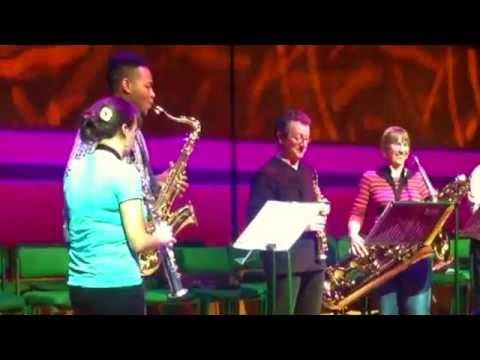 Sax Family - fun rehearsal