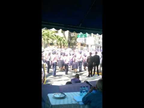 Banda de Musica Ventura Delgado Instituto America en Desfile Loteria 2015 Homenaje a J  D  Arosemena