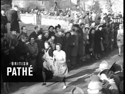 News In Flashes - Pancake Race At Olney (1951)