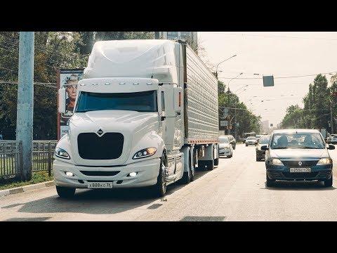 ЧТО В КАБИНЕ грузовика БЕНТЛИ?   INTERNATIONAL PROSTAR ИЗНУТРИ