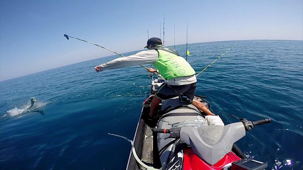 Jetski fishing for cobia mahi gopro youtube for Fishing jet ski