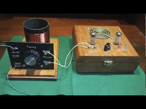 Mystery Crystal Set & Valve Amp
