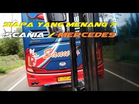 DUEL Mercedes Benz VS Scania Di Jalan Tanjakan Sempati star VS Sanura