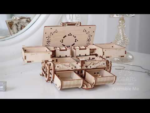 Янтарная Шкатулка от Ugears - Новинка 2019! Деревянный конструктор, сборная модель, 3D пазл