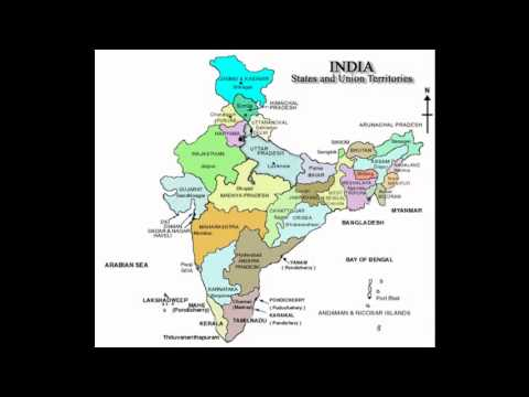 Indian Map with cities