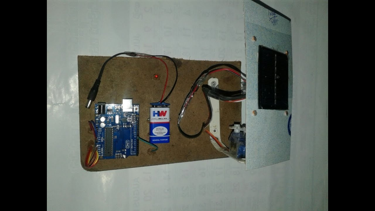 Solar Tracking System Using Arduino Uno Board With Circuit Harbor Freight Panel Wiring Diagram And Preject Code