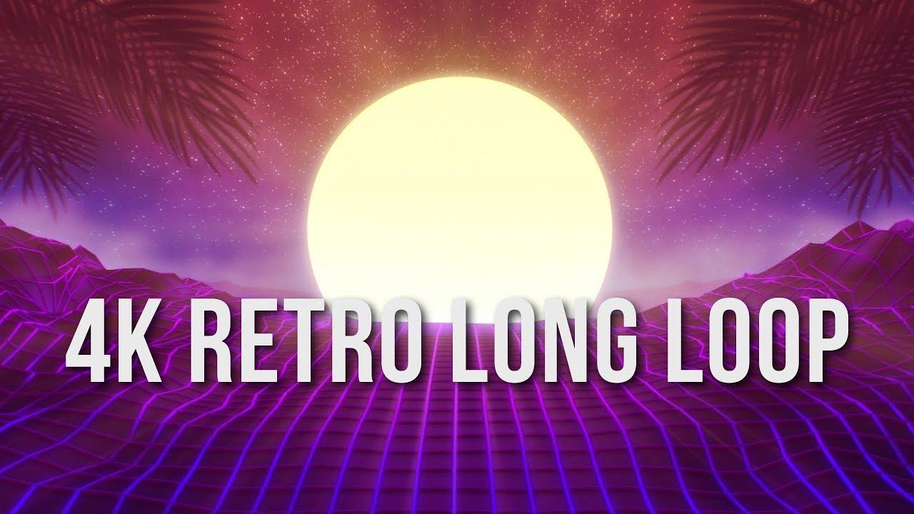 4K Retrowave Loop Half Hour - Video Screensaver Background