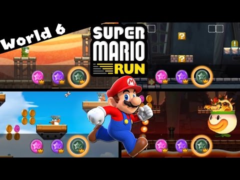 Super Mario Run - WORLD 6 FINALE | ALL Pink, Purple, and Black Coins! [iPad and iOS Gameplay]