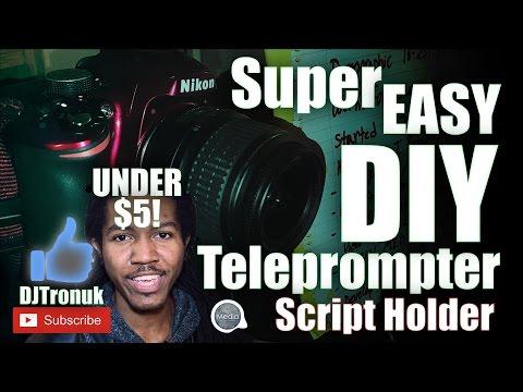 Super Easy DIY Teleprompter | Script Holder | Under $5