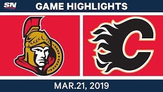 NHL Game Highlights | Senators vs. Flames - March 21, 2019