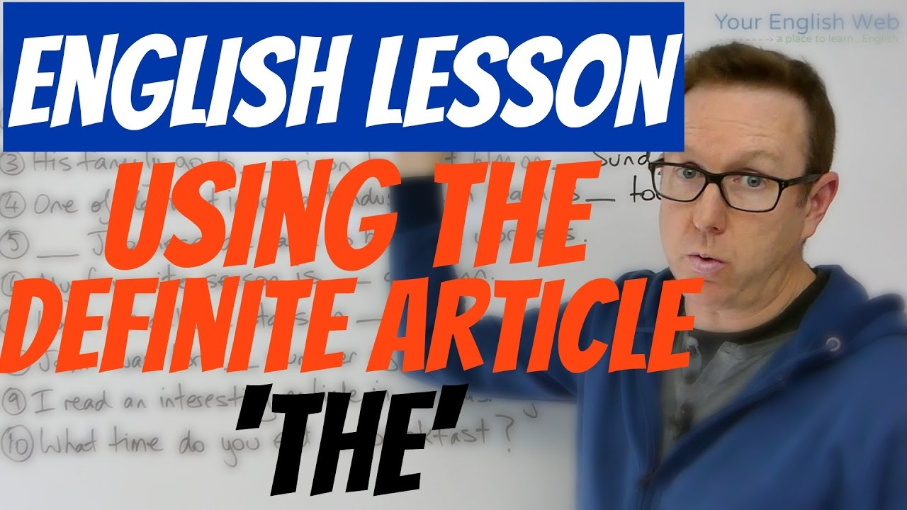 how to use english articles