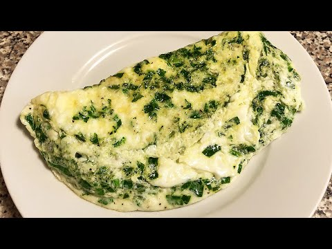 Egg White Omelet with Spinach