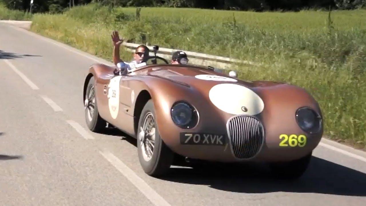 driving a jaguar c type on the mille miglia chris harris on cars youtube. Black Bedroom Furniture Sets. Home Design Ideas