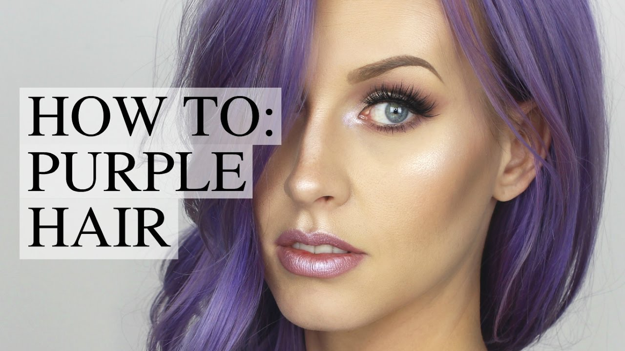 HOW TO: DYE YOUR HAIR PURPLE - YouTube