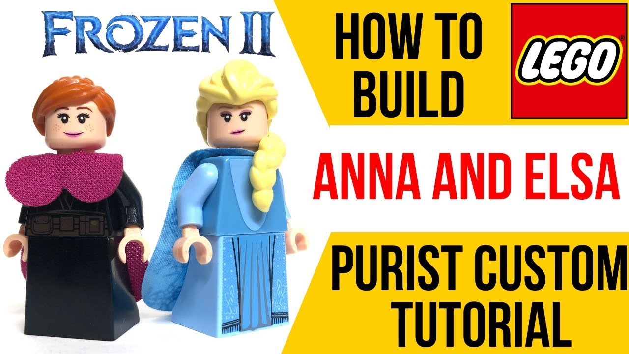 Lego Disney 2 Series Anna and Elsa Minifigures