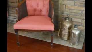 Diy Painted Upholstery: Vintage Barrel Chair