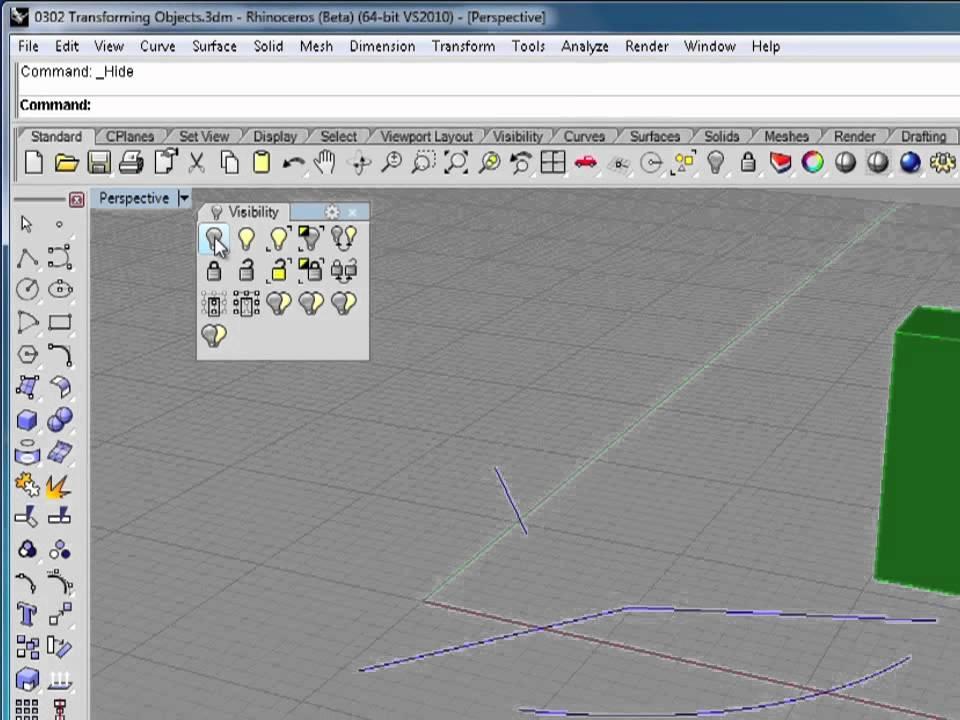 Rhino 5 Tutorial | Hiding Objects | InfiniteSkills Training