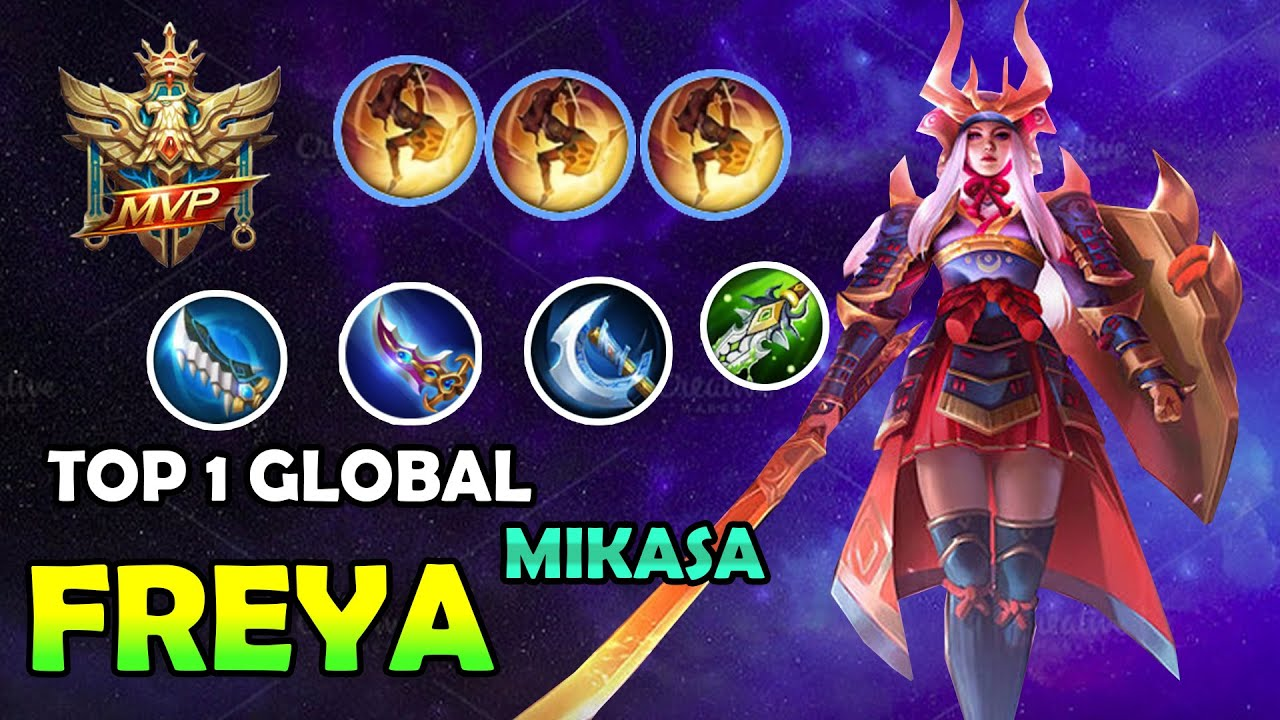 Freya top 1 Global Gameplay And New build 2020 - ML