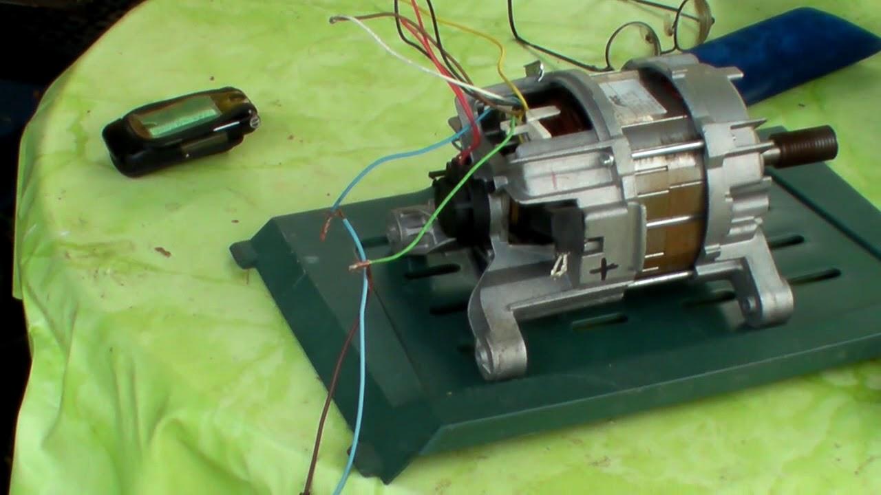 Waschmaschinenmotor anschließen youtube