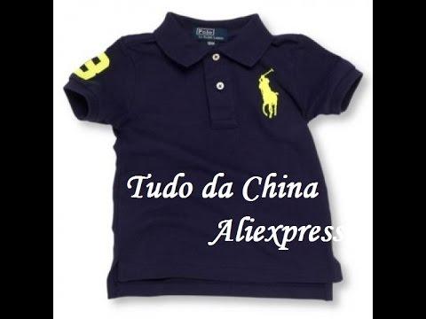 fa457ed18a1 Camisa Polo Ralph Lauren - Aliexpress  07 - YouTube
