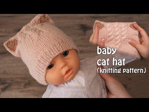 Вязание спицами для детей от 1 до 3 лет для девочек видео шапки