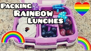 Packing RAINBOW Lunches bento style! 🌈 Bella Boo's Lunches