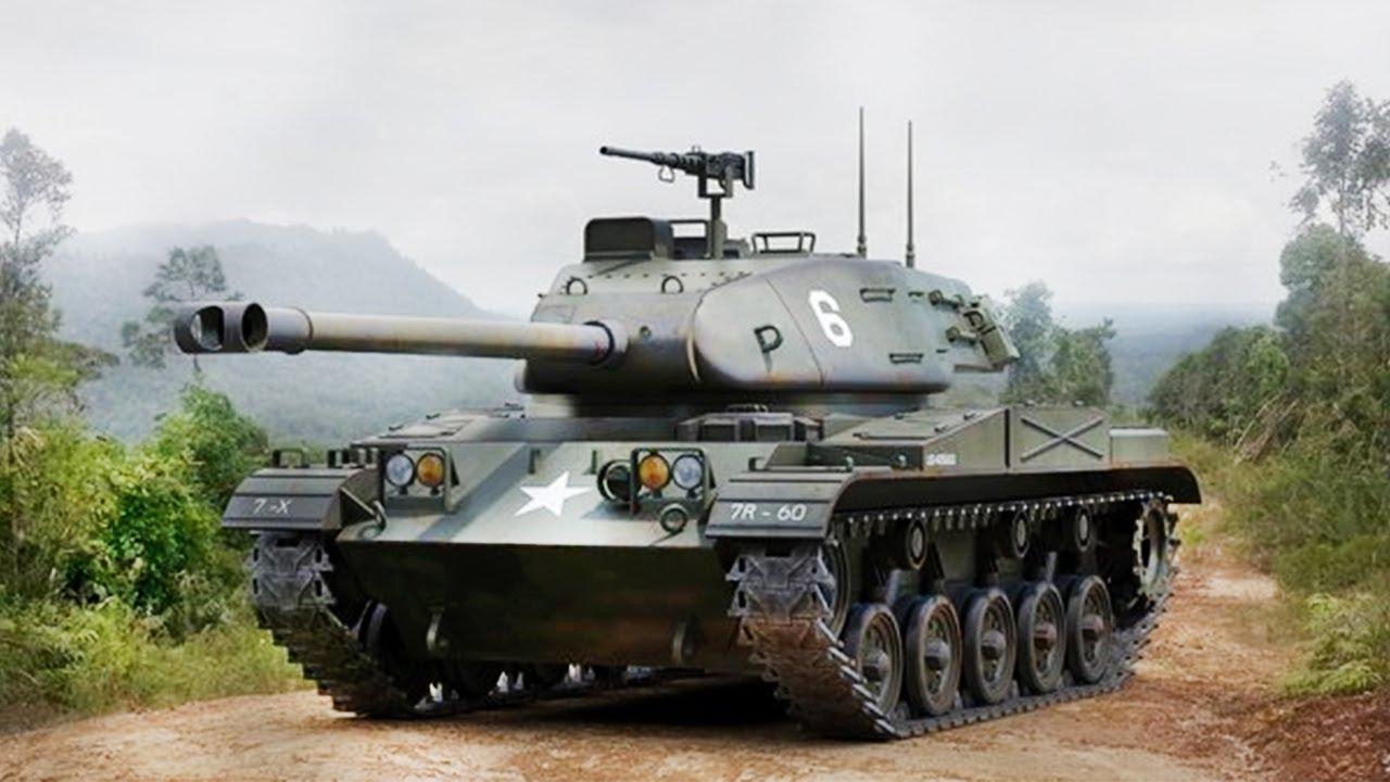 НЕПЛОХОЙ Американский легкий танк М41 Бульдог. Американские супертанки