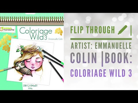 Flip Through Artist Emmanuelle Colin Book Coloriage