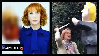 More Violence Against Trump: Woman Stabs Pinata, Friends Laugh