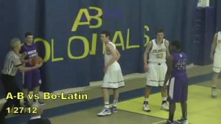 Acton Boxborough Varsity Boys Basketball vs Boston Latin 1/27/12