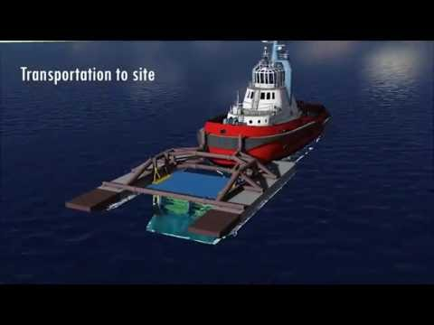 Deep River Installation barge & Turbine: Transportation and assembly.
