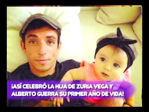¡Así celebró la hija de Zuria Vega y  Alberto Guerra su primer año de vida!