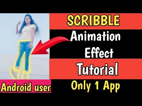 Glowing animation video kaise banaye/ Scribble effect animation app