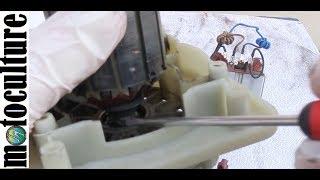 panne d 'un moteur de tondeuse qui crée une explosion et fait disjoncter