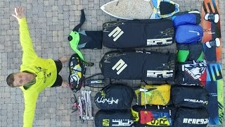 BEST KITING BAG in the market (10) kites (1) surf board  (2 TT boards) ......
