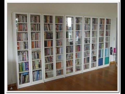 Book Shelf With Glass Door - YouTube