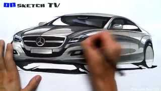 "온스케치 TV Car Sketch - ""Mercedes Benz CLS Sketch (Color Pencil+AD Marker)"""