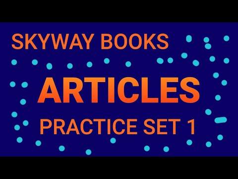 ARTICLES-PRACTICE SET 1