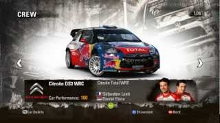 WRC 3: All Cars and Teams from Single Stage mode