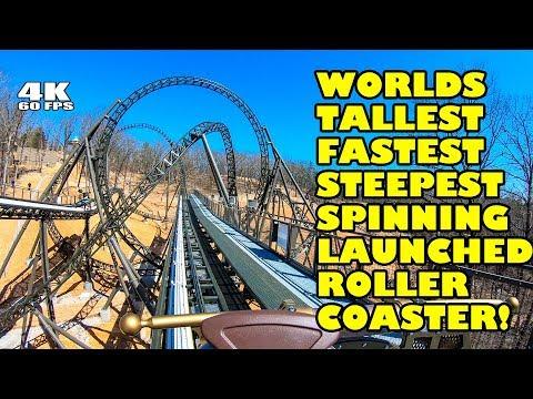Time Traveler Roller Coaster Multi-Angle 4K60 fps POV Silver Dollar City