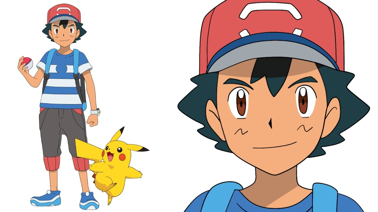 Uncategorized How To Draw Ash From Pokemon how to draw ash pokemon sun and moon step by como dibujar a sol y luna
