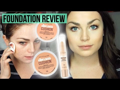 NEW Maybelline Dream Cushion Foundation & Concealer | Review + Demo
