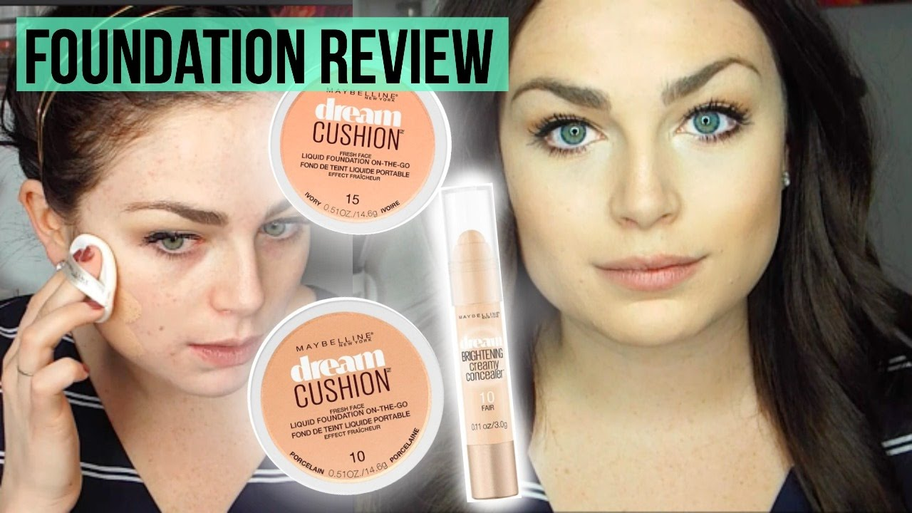 NEW Maybelline Dream Cushion Foundation & Concealer