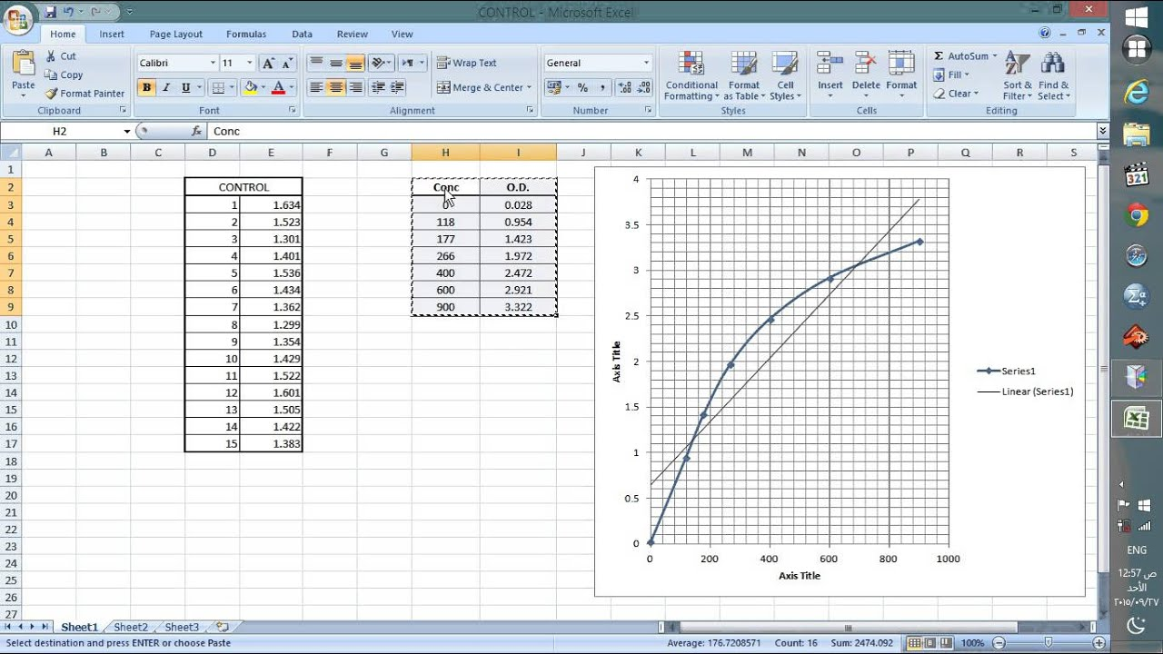 how to make a standard curve on excel mac