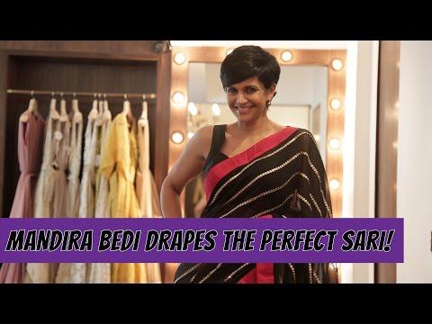 Mandira Bedi Shows You How To Drape The Perfect Sari