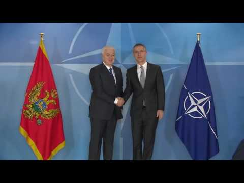 (B-Roll) Visit to NATO by the Prime Minister of Montenegro